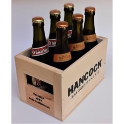 Hancock mini træ-ølkasse til 6 flasker